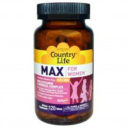 Витамины и минералы Country Life Max for Women with Iron 120 tabs